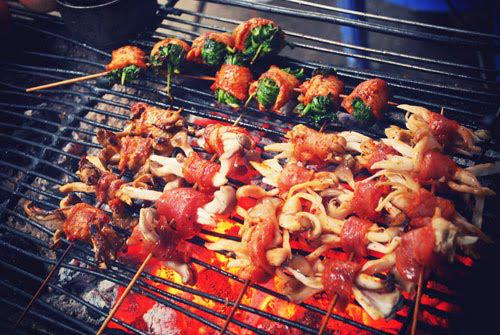 Enjoy the grilled dishes in Sapa