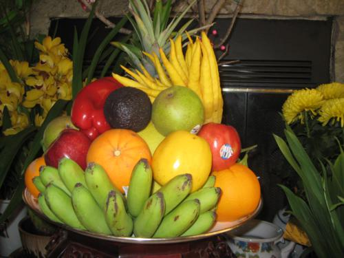 vietname discovery, vietnamese tet, vietnam lunar new year, tray of five fruit, mam ngu qua, Tet Nguyen Dan, vietnamese culture, customs and habits