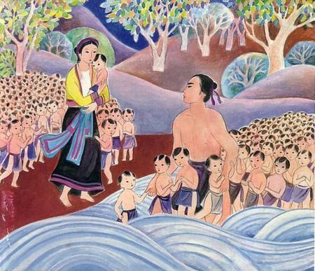 Vietnam's ancient legend, vietnamese culture, vietnamese history, Lac Long Quan and Au Co