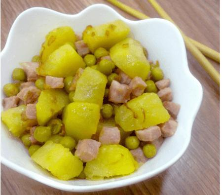 How to cook Potato fried with ham