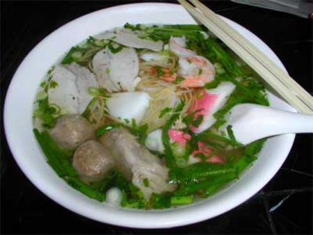 Delicious of Hu Tieu My Tho (My Tho noodles soup)