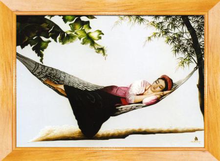 The beautiful of Vietnamese silk painting