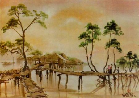 vietnamese silk painting, vietnamese painting, vietnamese silk, vietnam discovery