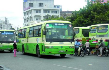 travel by bus, saigon's bus, saigon, ho chi minh city, tourism transportation, vietnam travel guide