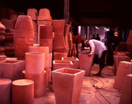 Long Ho red pottery in Vinh Long province