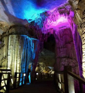 Inside Phong Nha cave