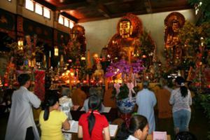 Vu Lan festival in pagoda