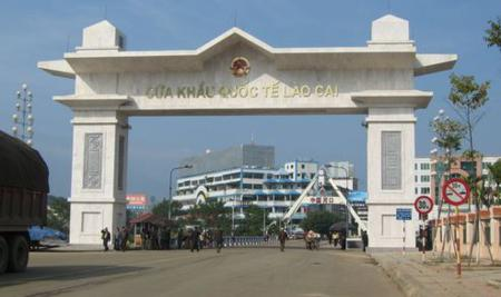 The international border gates from Vietnam to China