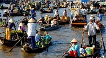 Discover Cai Rang floating market in the flood season